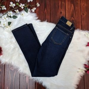 R1893 mid rise straight leg dark wash jeans